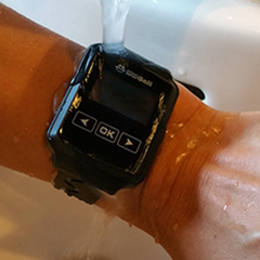 Waterproof Watch Pager Direct Being Worn